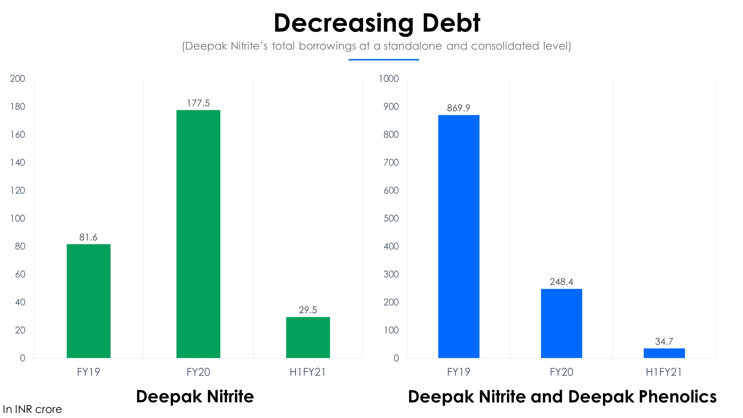 Deepak Nitrite Debt
